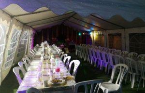 הזמנת אוהלים לאירועים וציוד מקיף